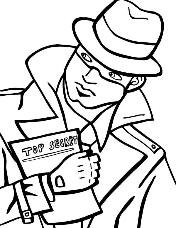 detective coloring pages black and white detective clip art black and white pages coloring detective