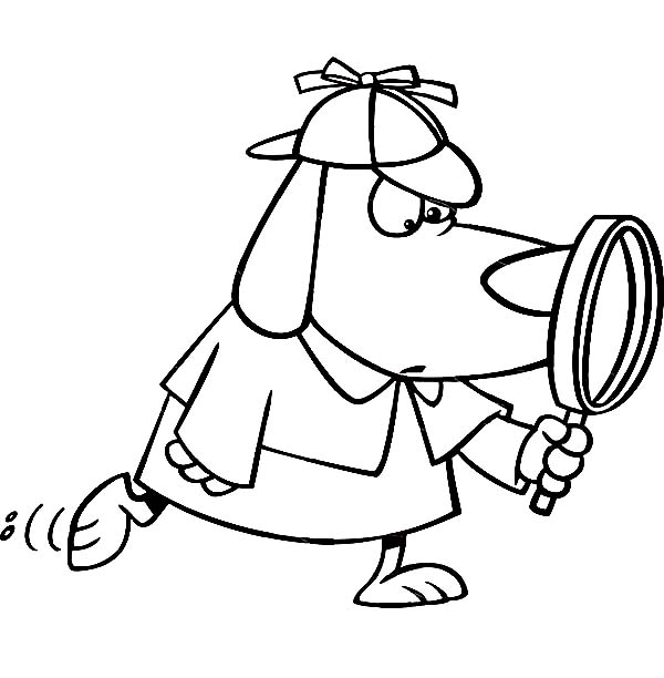 detective coloring pages master detective coloring pages learny kids detective pages coloring 1 1