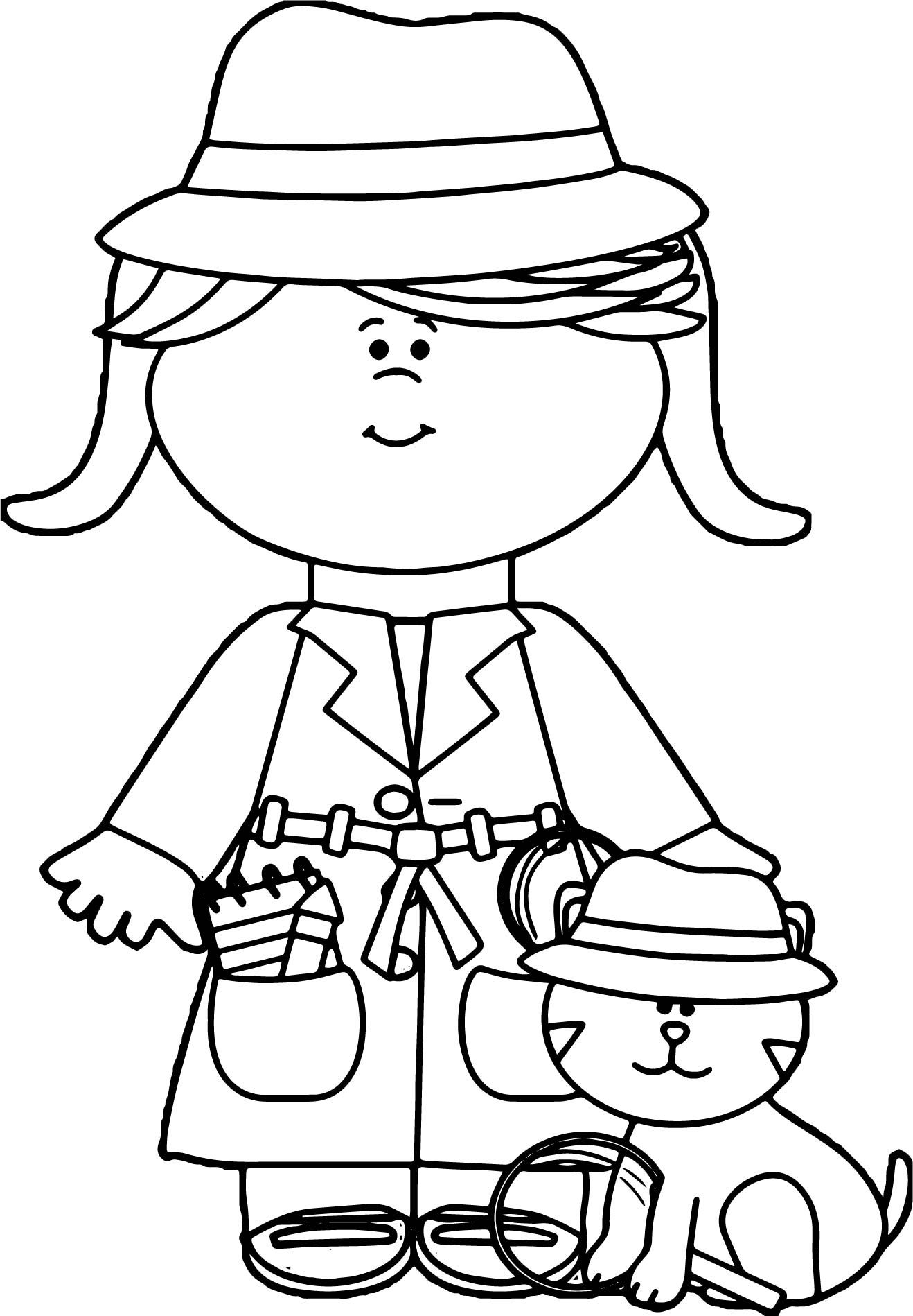 detective coloring pages two undercover detective coloring page netart detective pages coloring