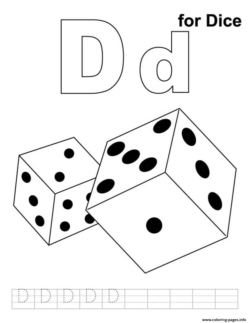 dice print dice coloring pages dice print
