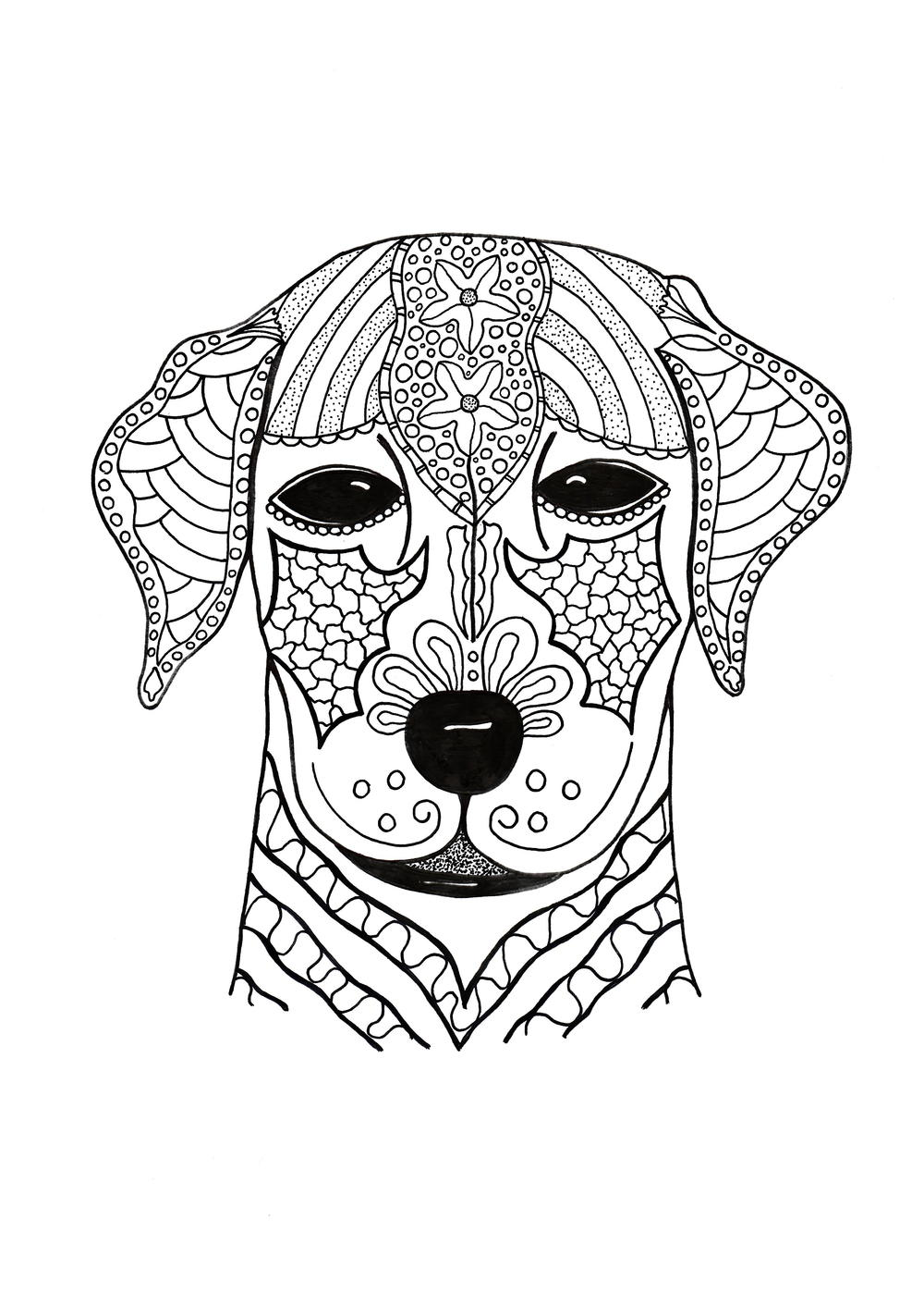 difficult dog coloring pages hard coloring pages of dogs at getcoloringscom free coloring dog difficult pages