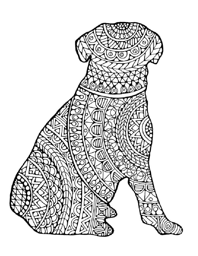 difficult dog coloring pages i woof you adult coloring page favecraftscom dog pages difficult coloring