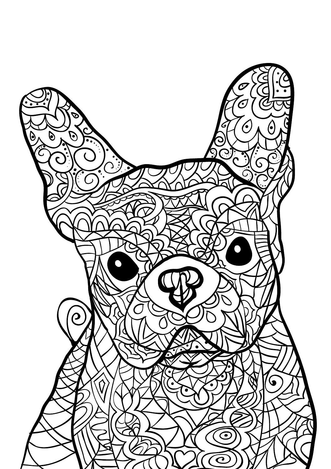 difficult dog coloring pages printable dog coloring pages that are hard yahoo image dog pages coloring difficult