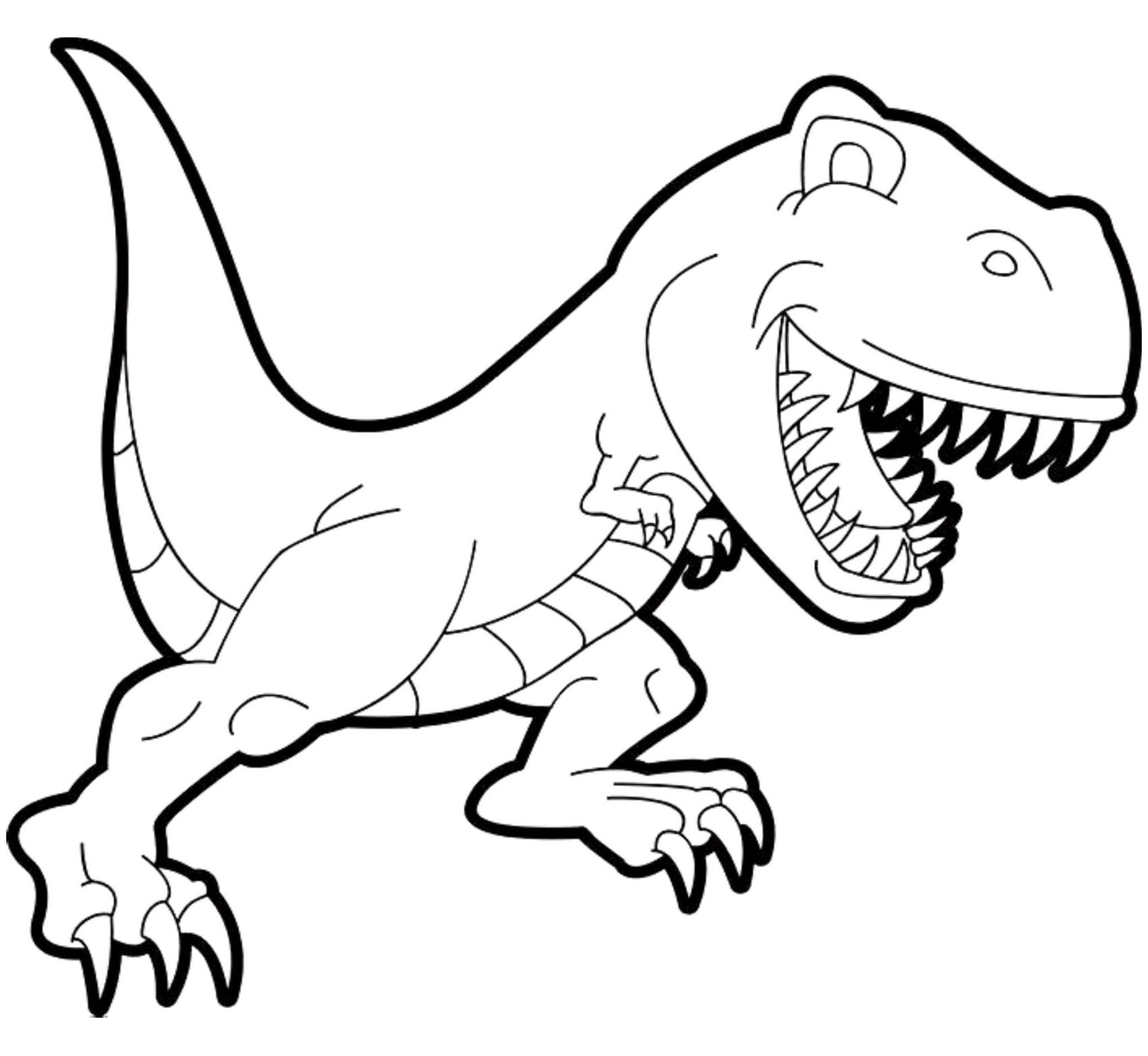 dinosaur coloring pages printable free dinosaurs free to color for kids tyrannosaur rex cartoon free coloring printable dinosaur pages