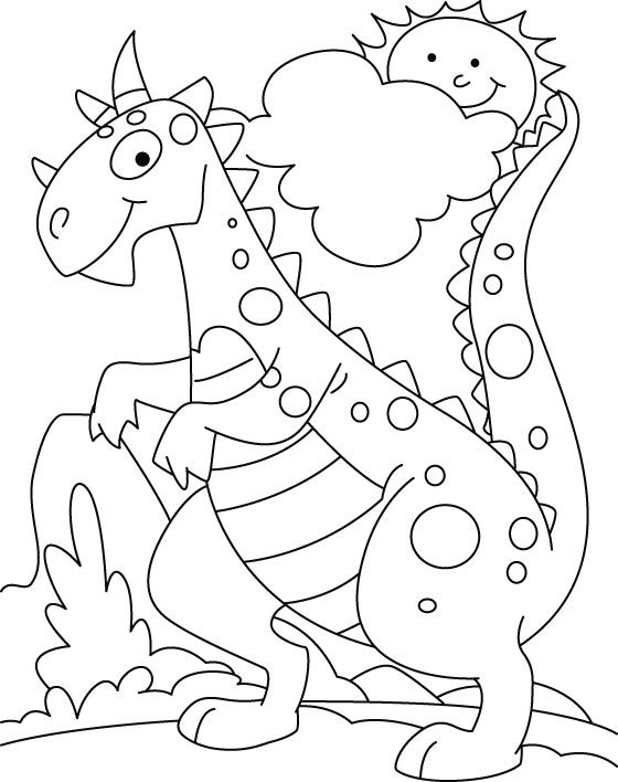 dinosaur to color baby dinosaur coloring pages for preschoolers activity dinosaur color to
