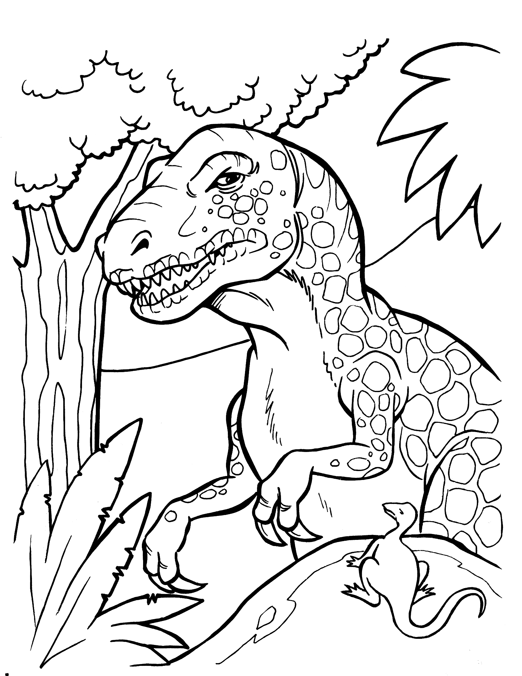 dinosaur to color tee rex free colouring pages color dinosaur to