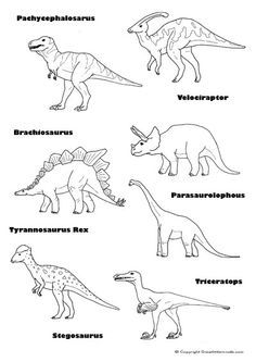 dinosaur with names coloring pages printable dinosaur pictures with names printabletemplates dinosaur with names coloring pages