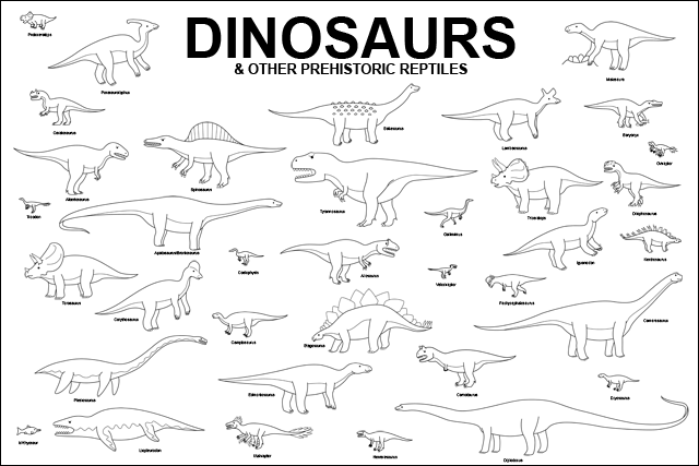 dinosaur with names coloring pages the dinosaur poster welcome with pages names dinosaur coloring