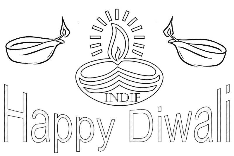 diwali cards to colour diwali images to color diwali to cards colour
