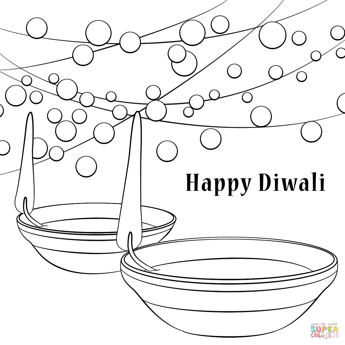 diwali cards to colour happy diwali card coloring page free printable coloring diwali colour to cards