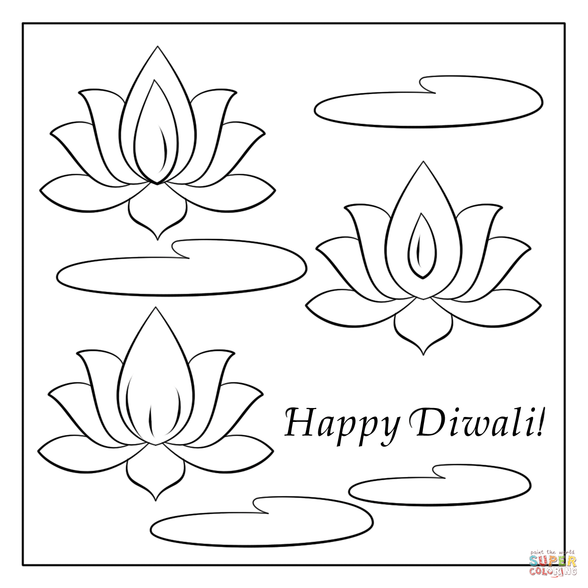 diwali cards to colour happy diwali coloring pages at getcoloringscom free diwali colour to cards