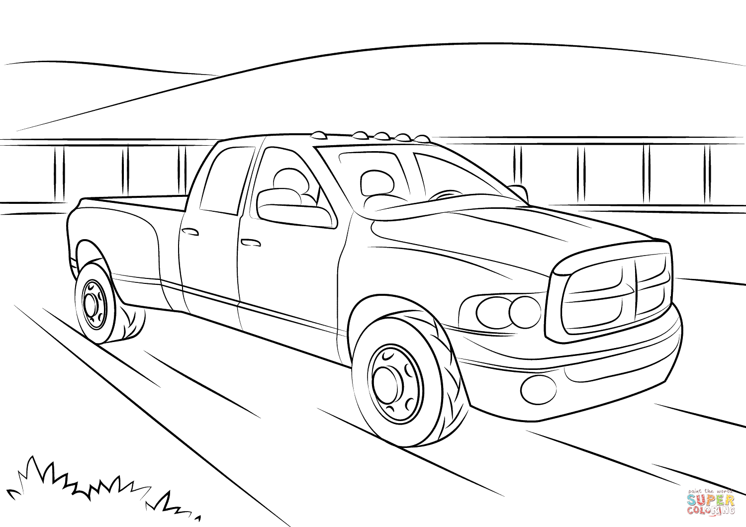 dodge ram truck coloring pages dodge ram cliparts free download on clipartmag dodge coloring truck pages ram