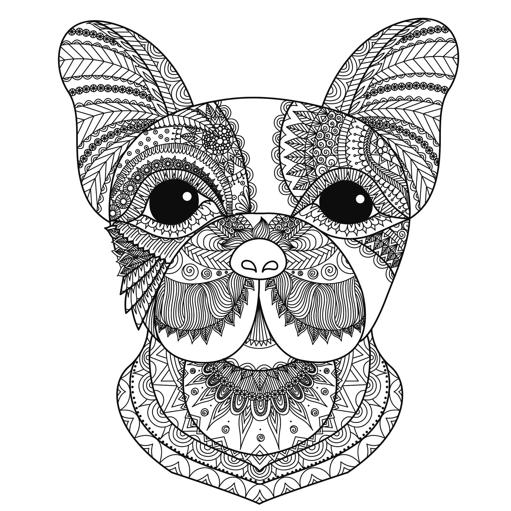 dog coloring in dog breed coloring pages in dog coloring
