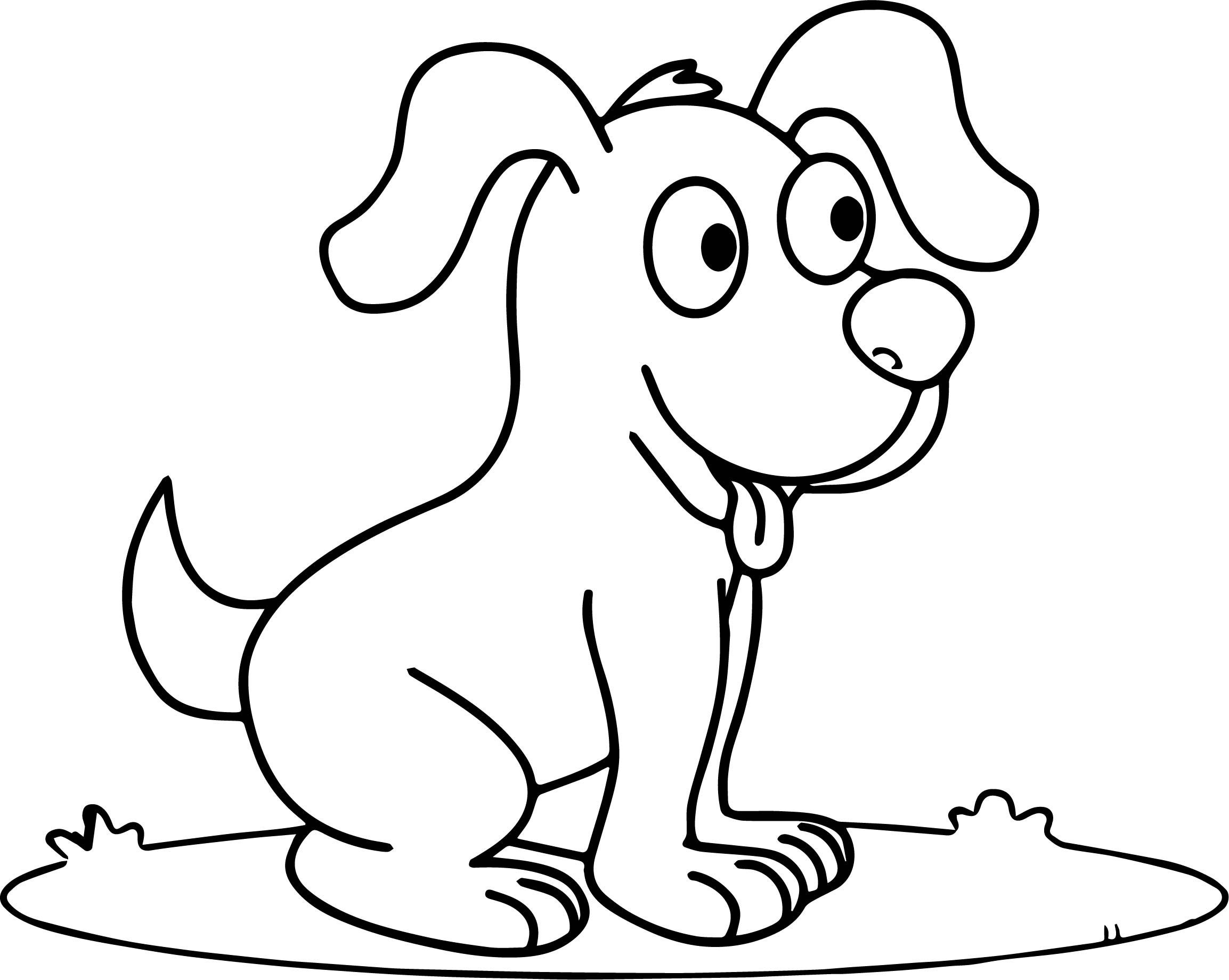dog coloring in dog coloring pages for kids preschool and kindergarten in dog coloring