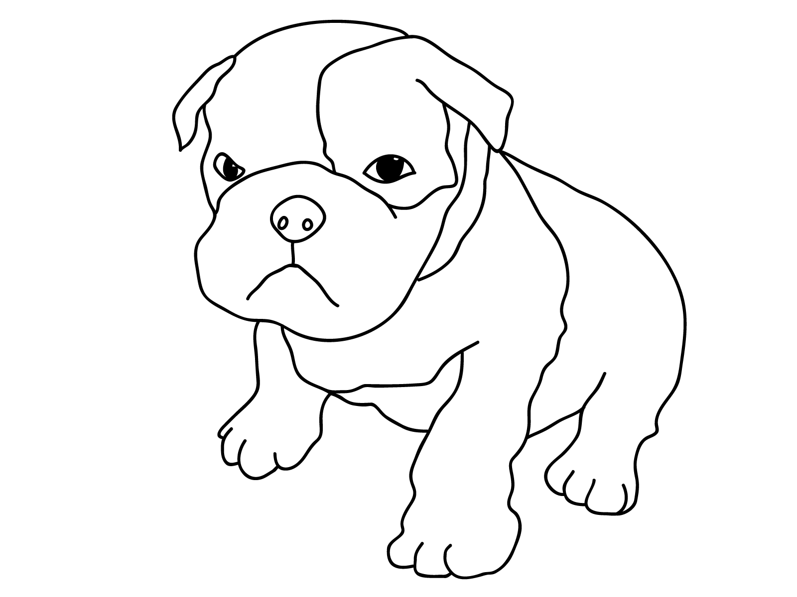 dog coloring in dog coloring pages for kids printable coloring home in dog coloring