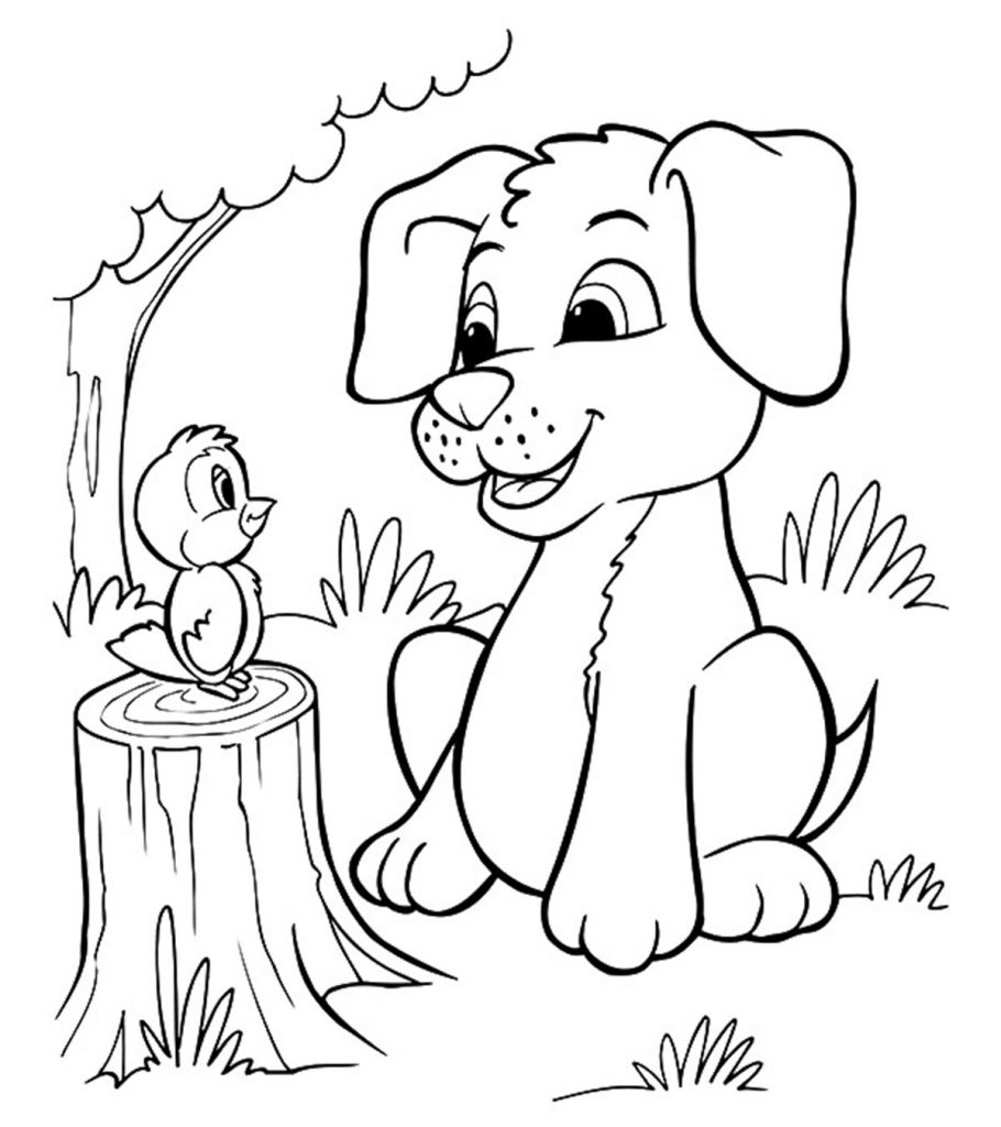 dog coloring picture dog coloring pages free download on clipartmag dog coloring picture
