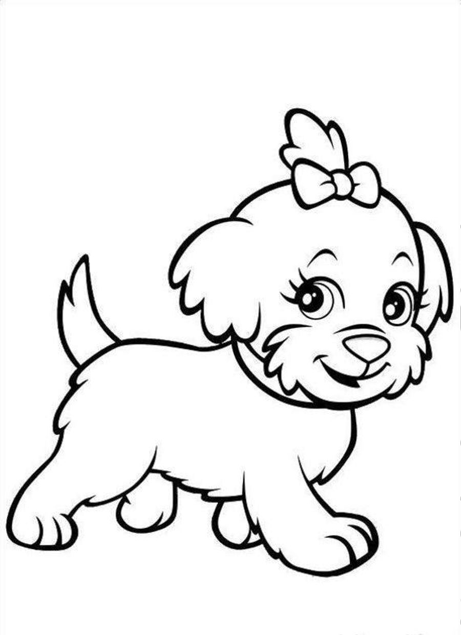 dog coloring picture sad puppy coloring pages at getcoloringscom free coloring dog picture