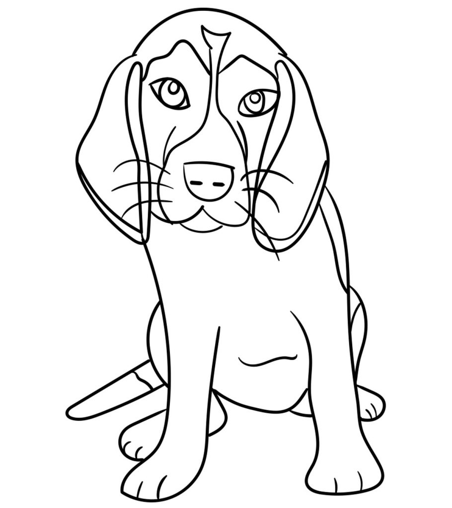 dog coloring pictures to print animals coloring pages cute puppy playing kids to print coloring pictures dog