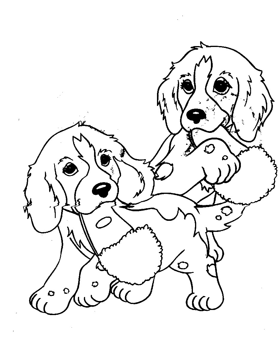 dog pictures to print and colour cartoon puppy coloring page for kids animal coloring colour and dog print pictures to