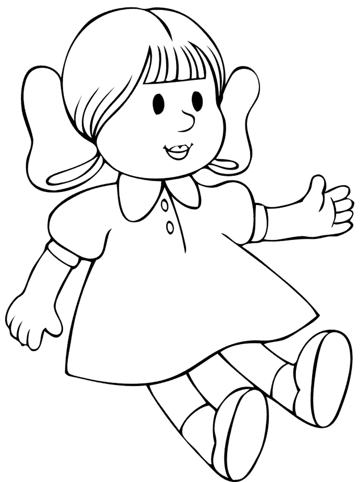 doll coloring sheets baby doll coloring page at getdrawings free download sheets doll coloring
