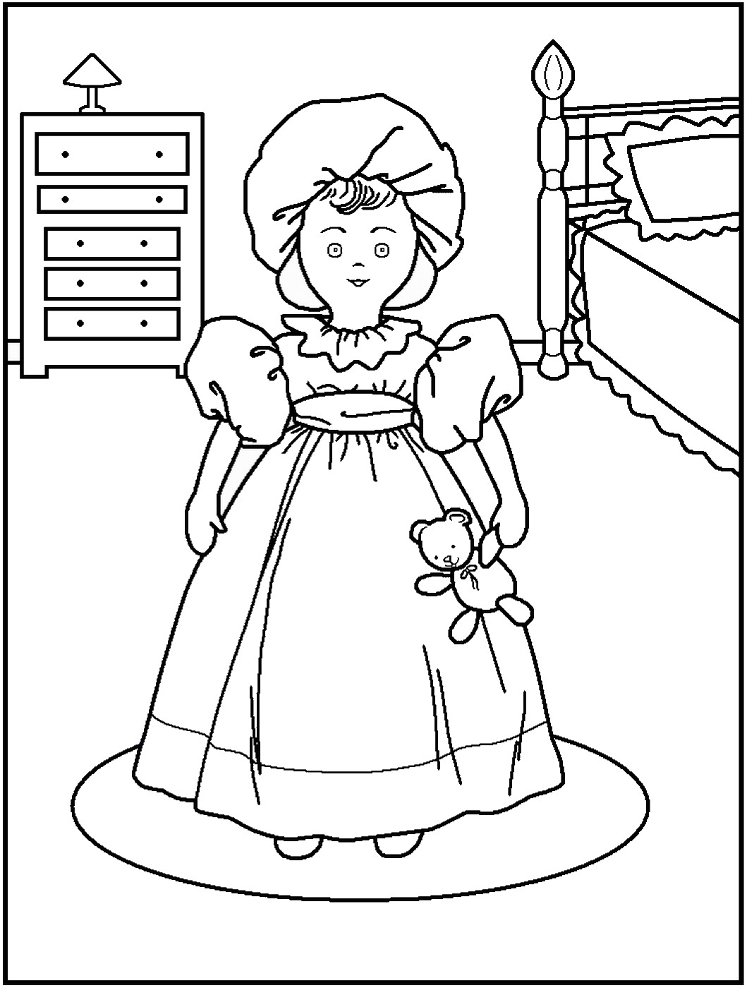 doll coloring sheets doll coloring pages getcoloringpagescom sheets doll coloring