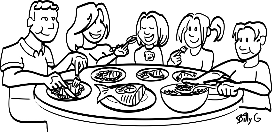 dollar tree food coloring family meal black and white clipart tree dollar food coloring