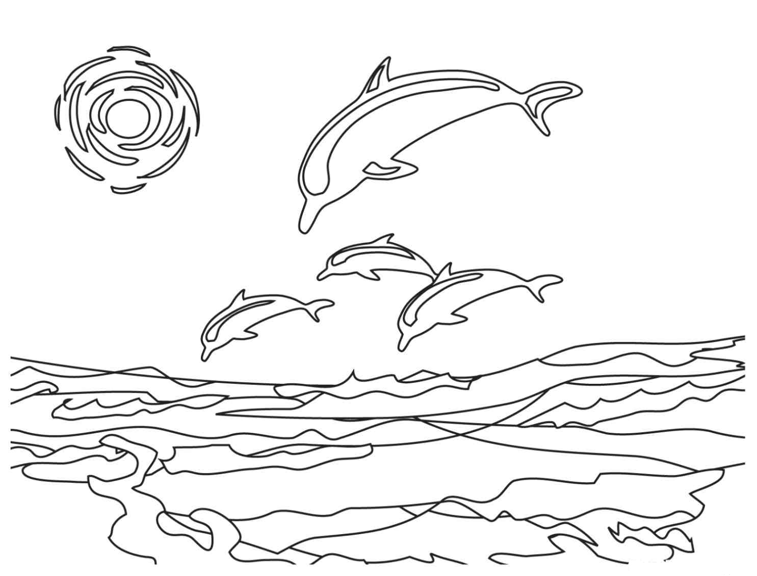 dolphin coloring pictures to print dolphin coloring pages 6 coloring kids to pictures dolphin print coloring