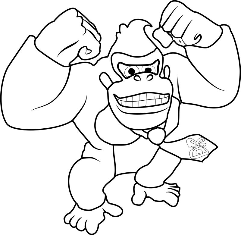 donkey kong coloring pages to print donkey kong coloring pages at getdrawings free download print pages kong coloring to donkey