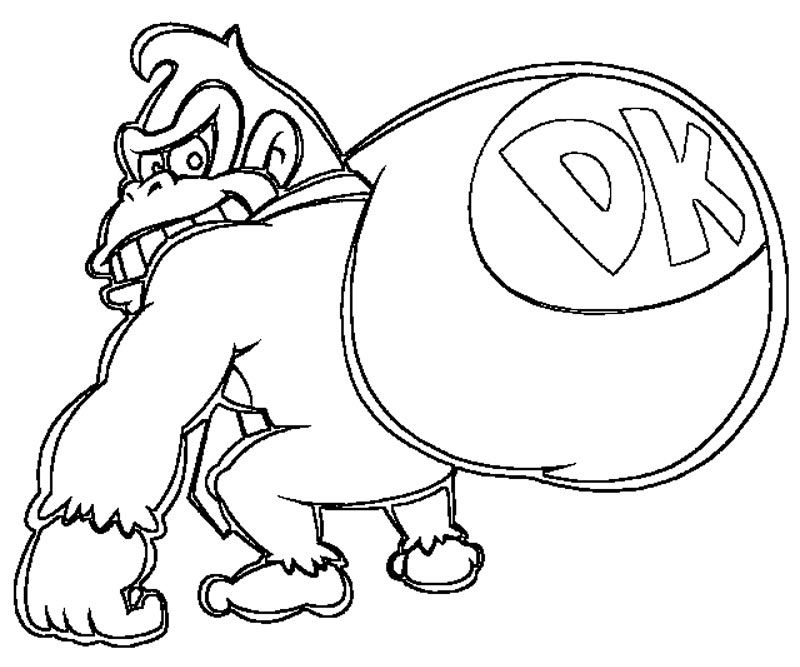 donkey kong coloring pages to print donkey kong coloring pages free printable donkey kong to kong coloring print pages donkey