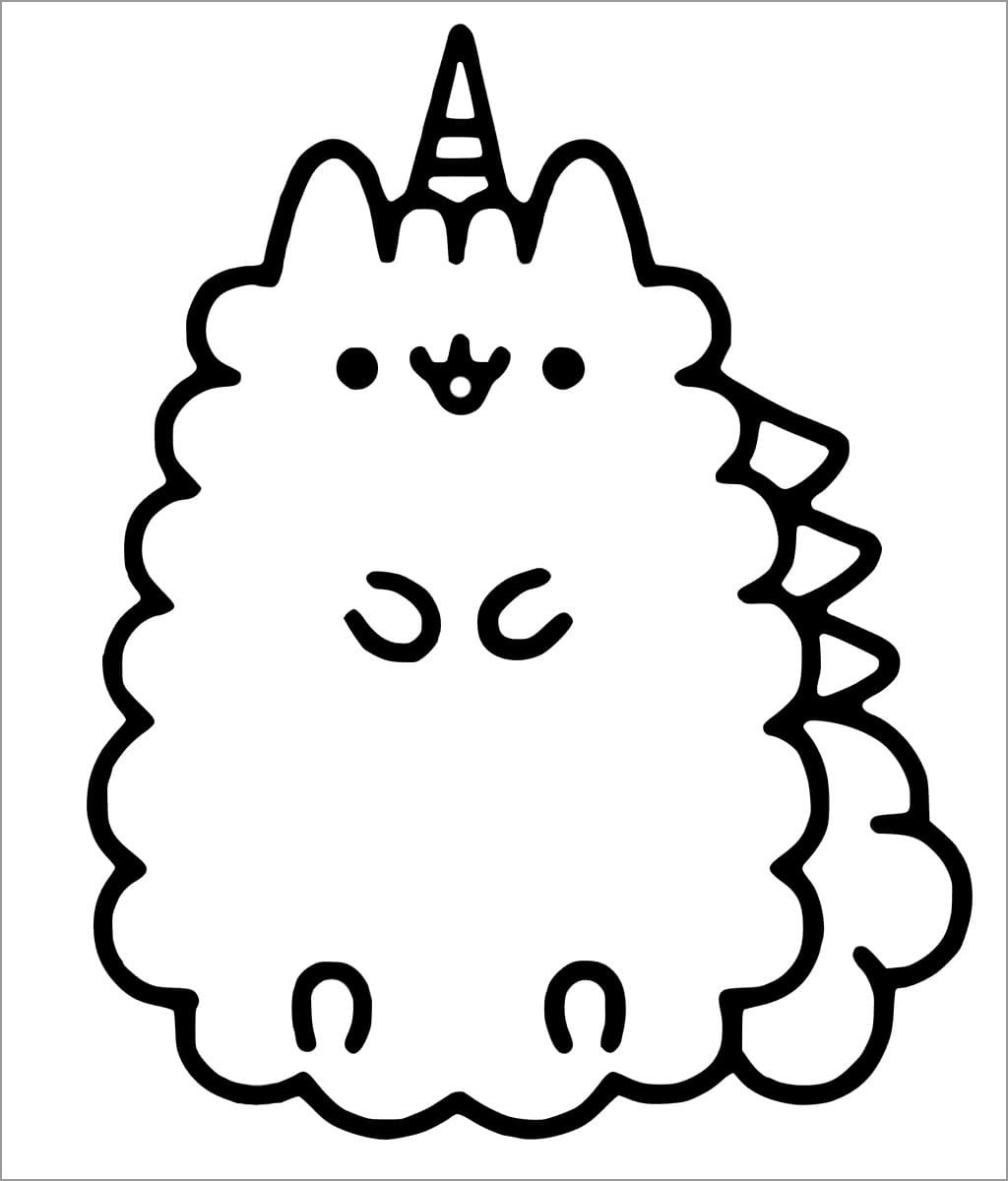 donut pusheen cat coloring pages coloring and drawing kawaii colouring page pusheen the cat coloring pages donut pusheen