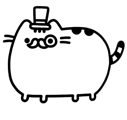 donut pusheen cat coloring pages pusheen coloring pages 70 pieces print for free wonder day donut coloring cat pages pusheen