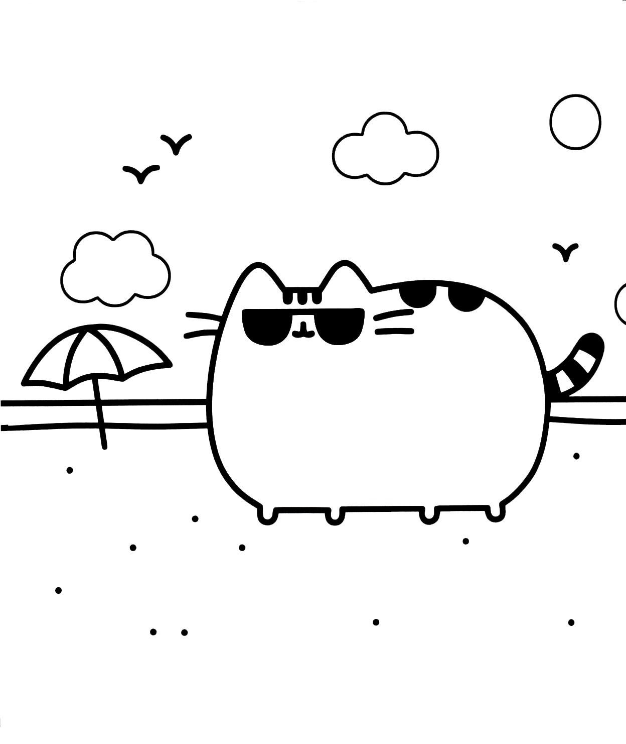 donut pusheen cat coloring pages pusheen donuts and unicorn doodle art doodling adult pusheen coloring cat pages donut