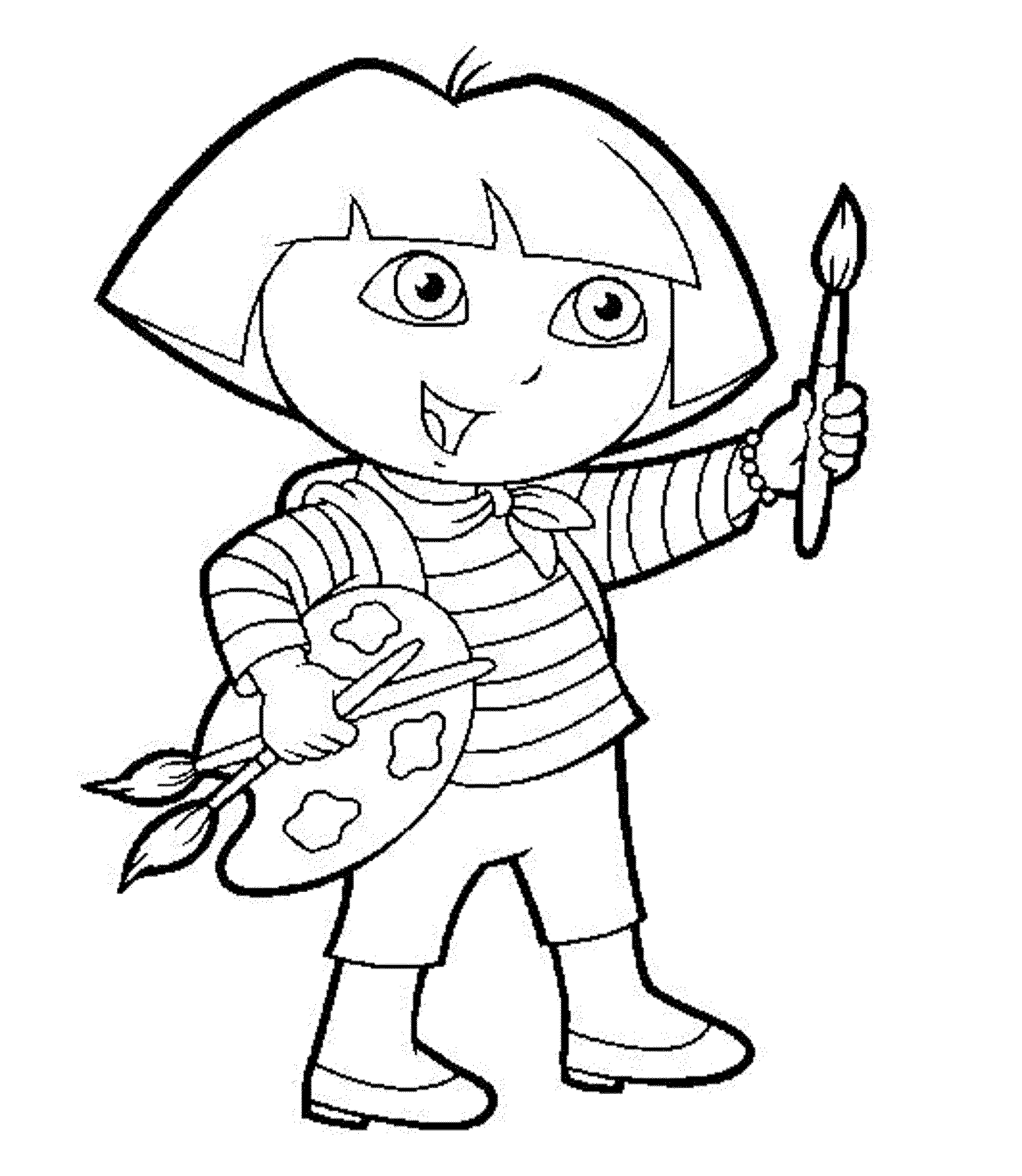 dora color pages print download dora coloring pages to learn new things color dora pages