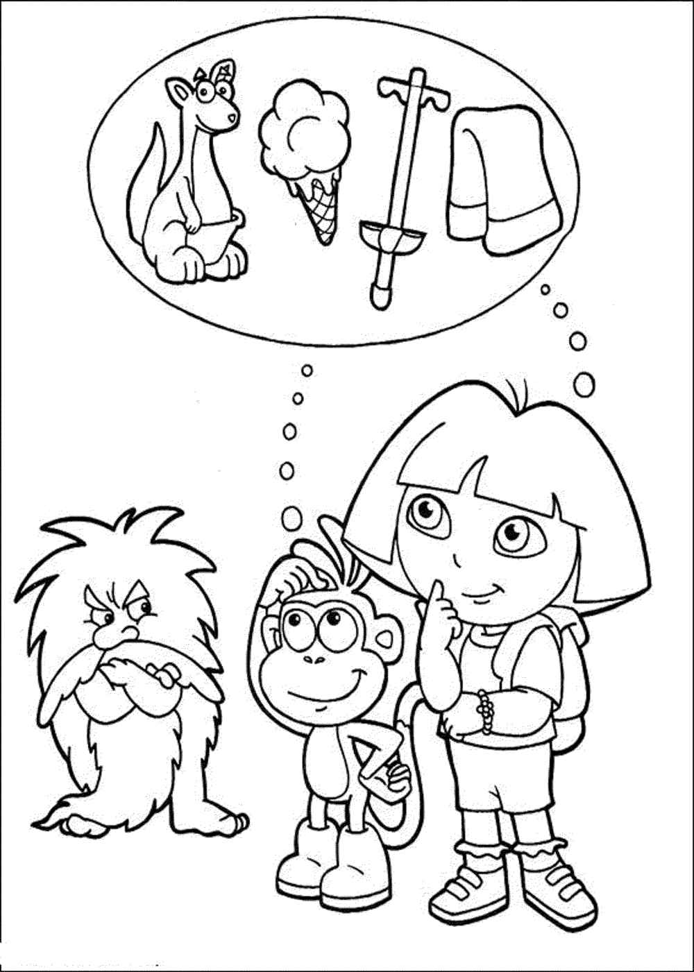 dora color pages print download dora coloring pages to learn new things color dora pages 1 1