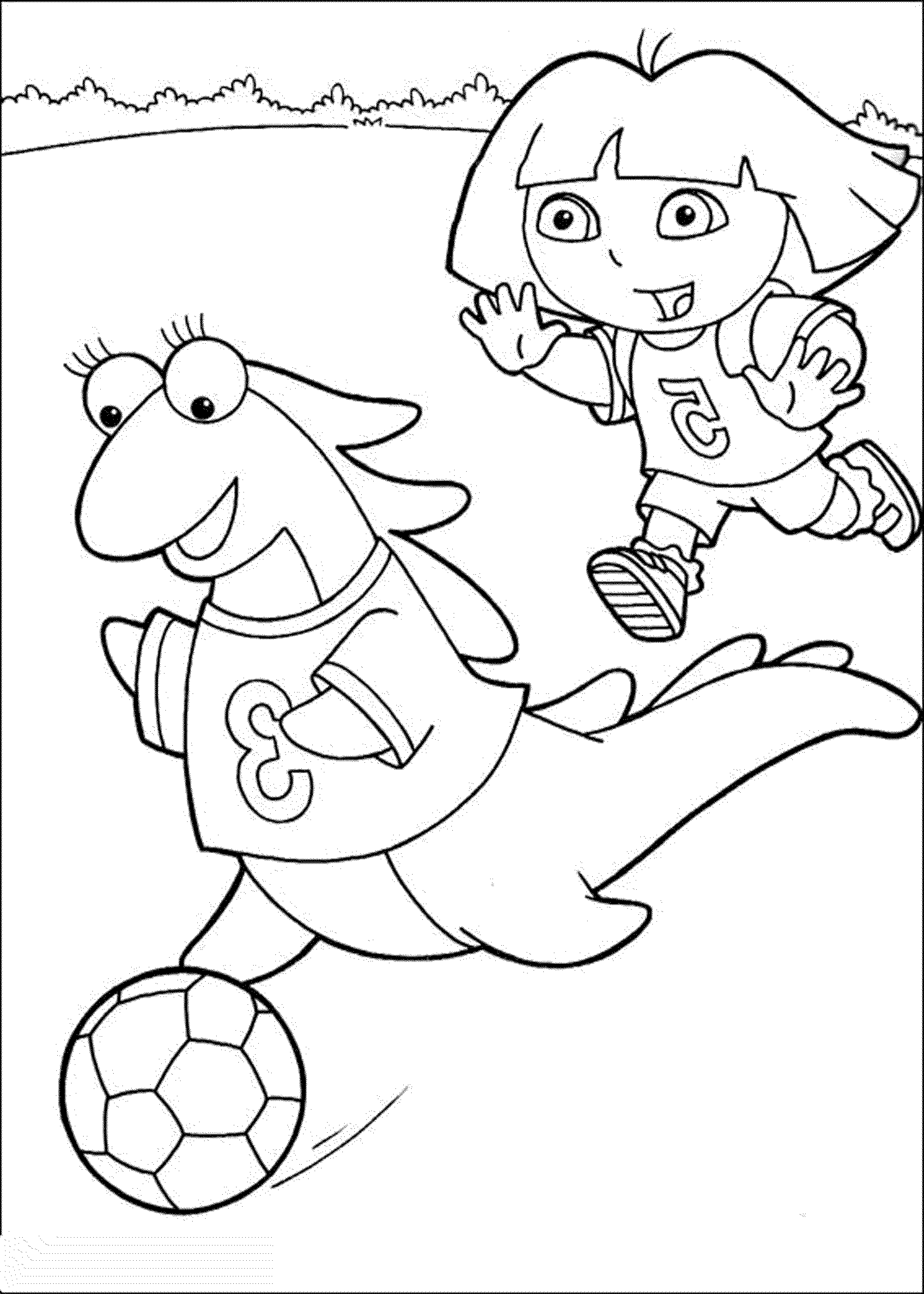 dora color pages print download dora coloring pages to learn new things dora color pages
