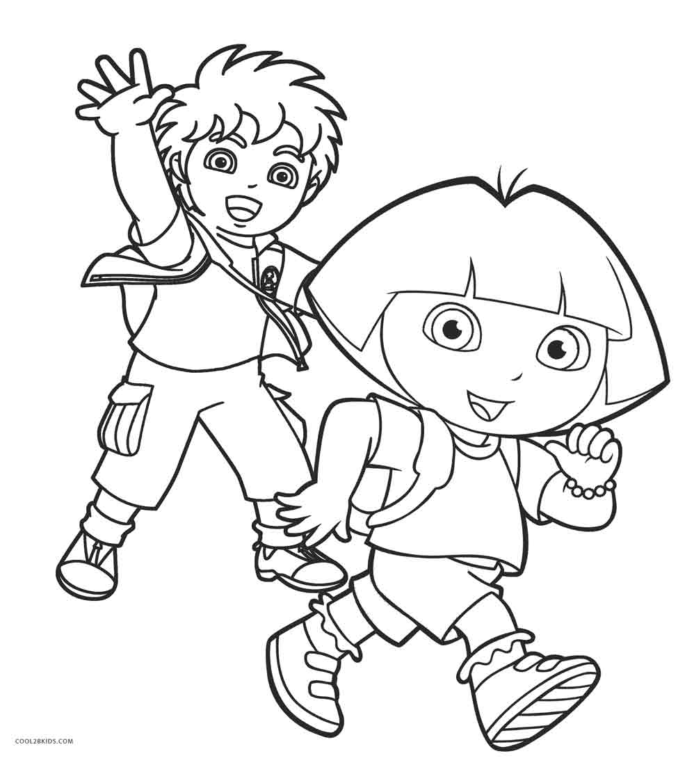 dora color pages print download dora coloring pages to learn new things pages color dora