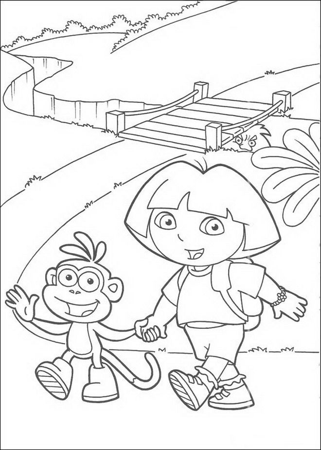 dora coloring pages online free coloring page dora the explorer dora the explorer dora coloring dora free pages online