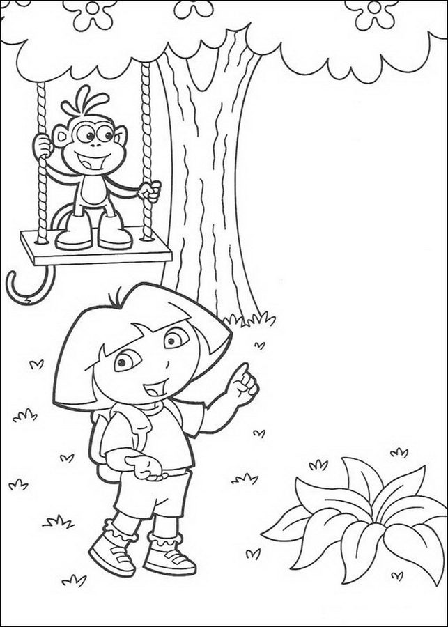 dora coloring pages online free coloring pages dora the explorer printable for kids online dora pages free coloring