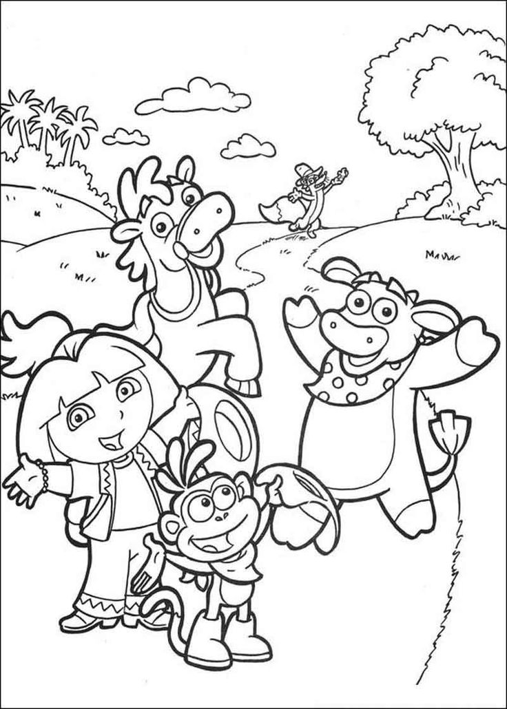 dora coloring pages online free dora boots and map dora the explorer coloring page free dora coloring pages free online