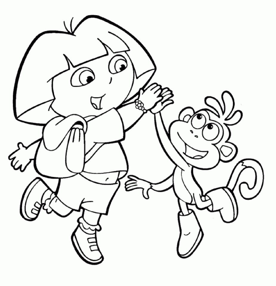 dora coloring pages online free dora coloring pages for kids printable free online coloring dora pages free