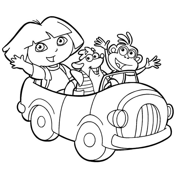dora coloring pages online free dora the explorer drawing at getdrawings free download online free pages dora coloring