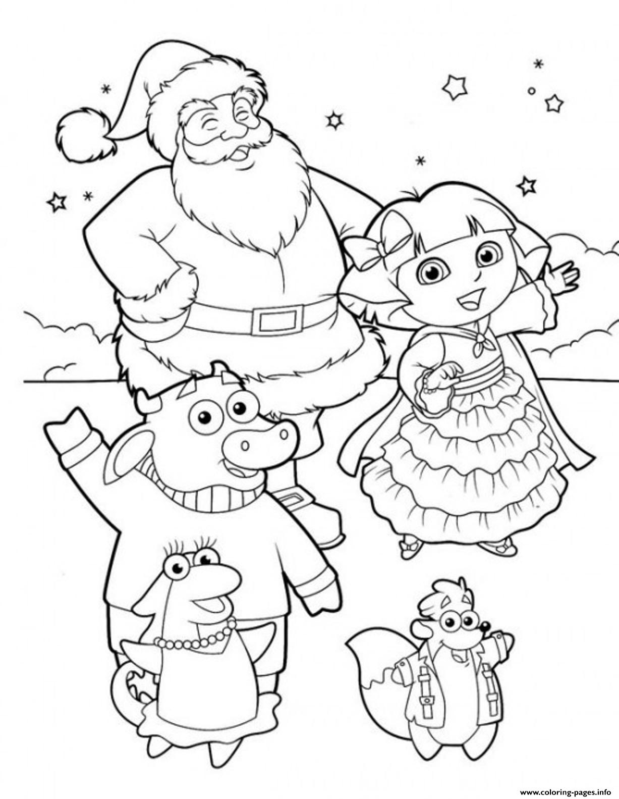 dora coloring pages online free dora the explorer s for kids for christmas freef472 free pages dora coloring online