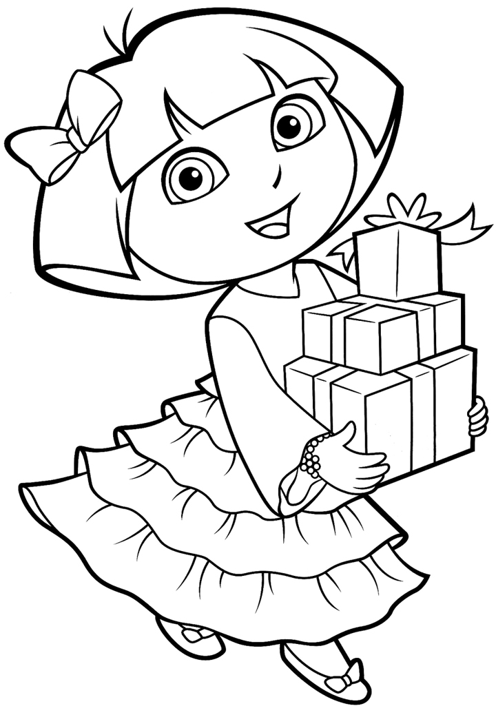 dora colouring sheet free printable dora coloring pages for kids cool2bkids sheet colouring dora