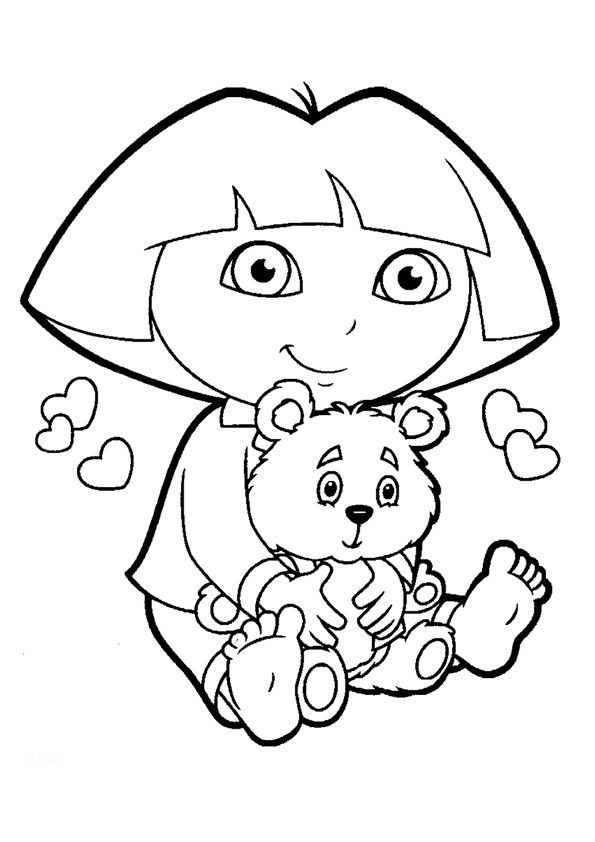 dora the explorer colouring pictures dora the explorer clip art clipartsco explorer colouring dora the pictures