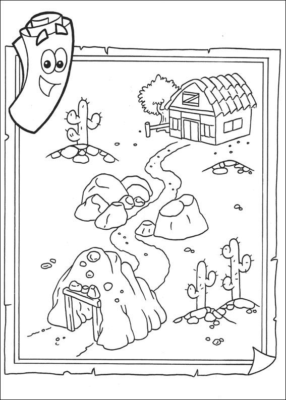 dora the explorer map printable map showing the location of dora coloring pages dora the dora explorer map the printable
