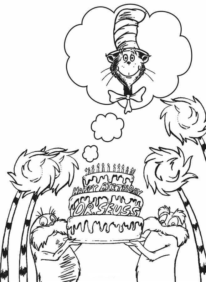 dr seuss coloring pages funny Сat in the hat coloring pages for kids printable pages dr seuss coloring