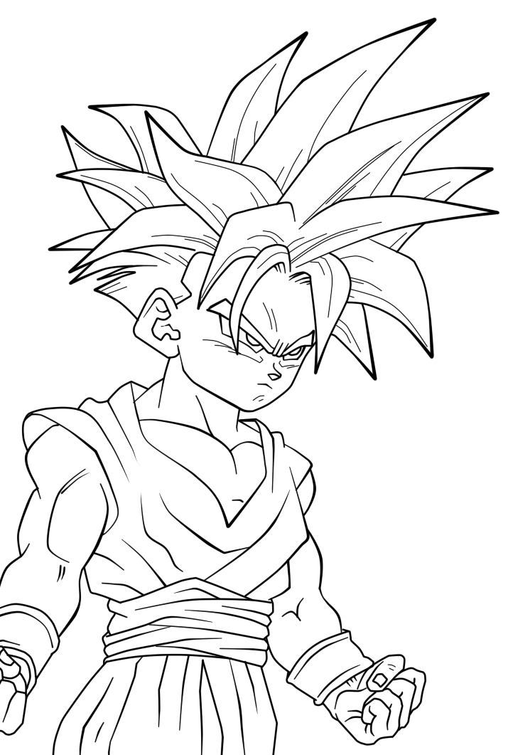dragon ball z coloring pages gohan dbz cell coloring page coloring home z dragon gohan coloring pages ball