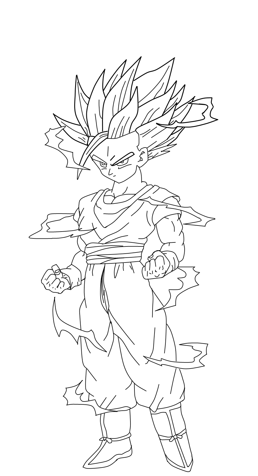 dragon ball z coloring pages gohan dragon ball z gohan coloring pages coloring home gohan ball dragon z pages coloring