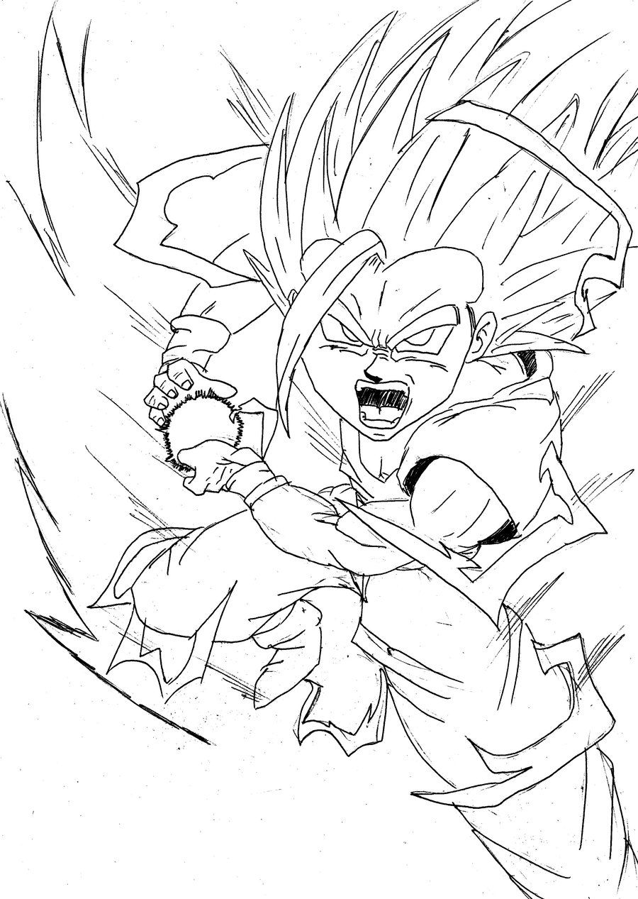 dragon ball z coloring pages gohan gohan coloring pages at getcoloringscom free printable dragon ball coloring z gohan pages
