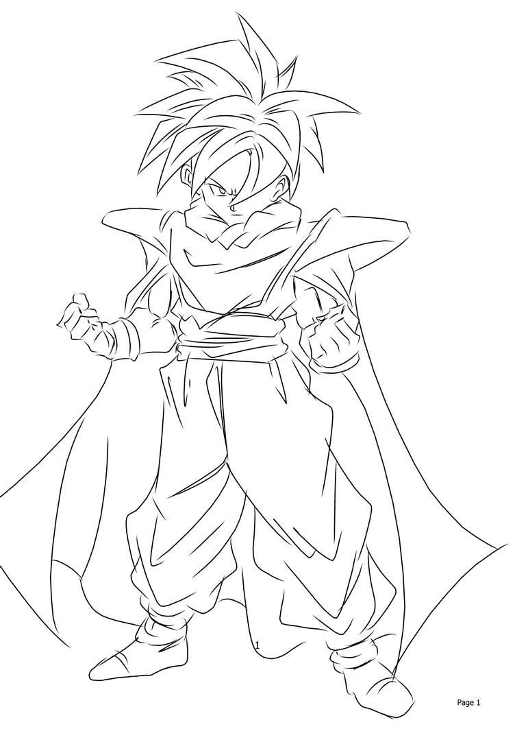 dragon ball z coloring pages gohan lineart son gohan by dbzwarrior on deviantart gohan ball dragon pages z coloring